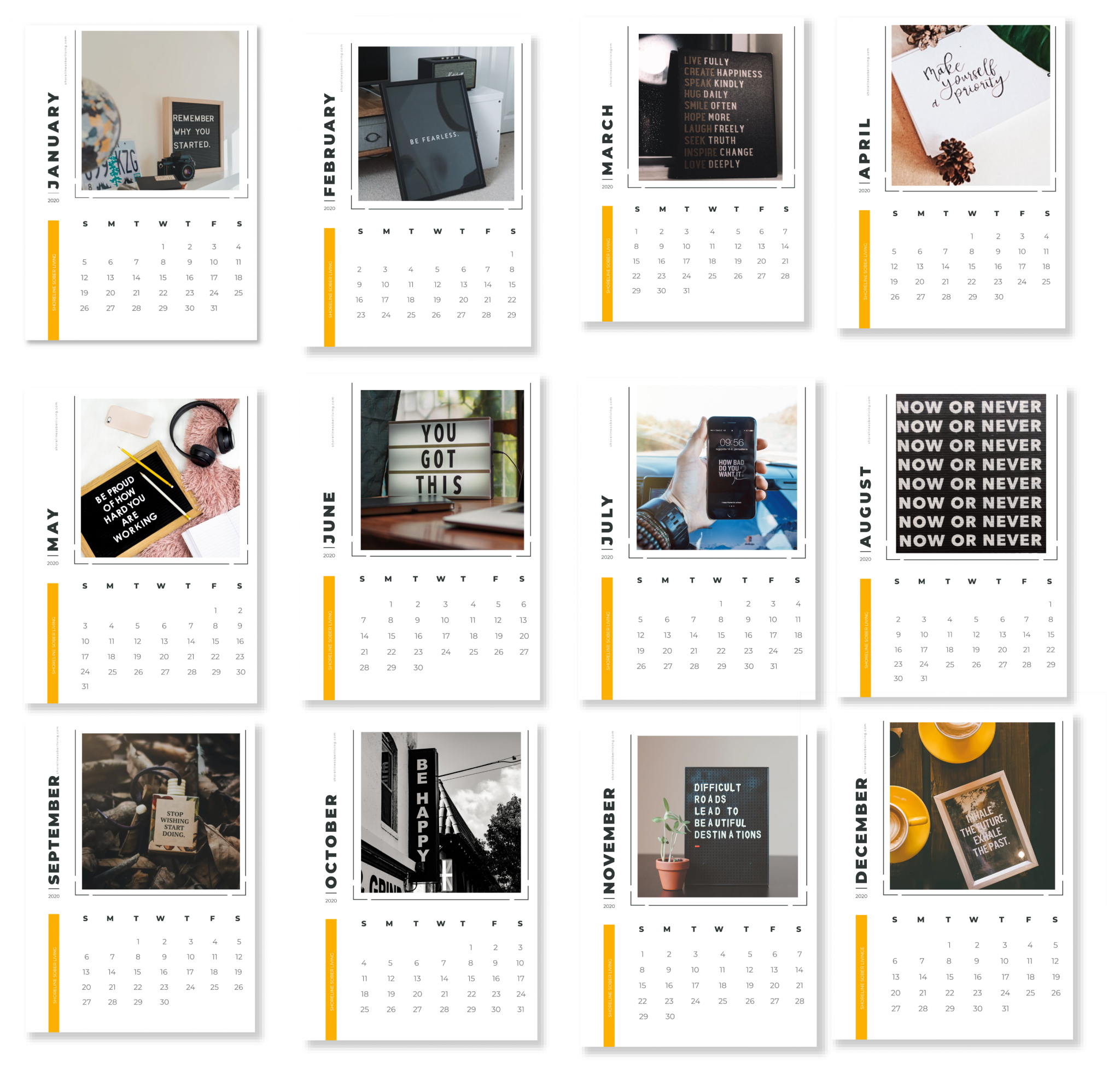 Sobriety Calendar